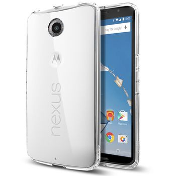 Spigen tenký kryt Ultra Hybrid pro Motorola Nexus 6, transparentní