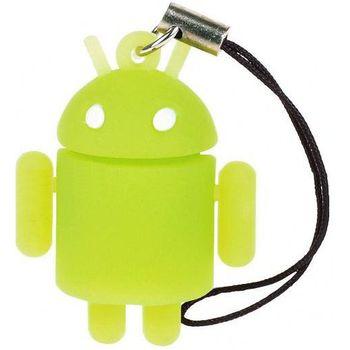 Přívěšek Android robot zelený - fosforeskující