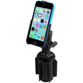 RAM Mounts držák na iPhone 5C do auta do držáku na nápoje, sestava RAP-299-3-AP16U