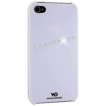 White Diamonds kryt Sash pro Apple iPhone 4/4S - bílá