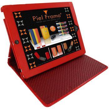 Piel Frama pouzdro pro iPad 4 Cinema, Crocodile Red