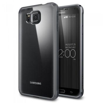 Spigen tenký kryt Ultra Hybrid pro Samsung Galaxy Alpha, kovově šedá