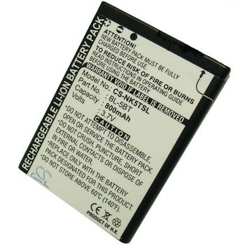 Baterie náhradní (ekv. BL-5BT) pro Nokia N75, Li-ion 3,7V 800mAh