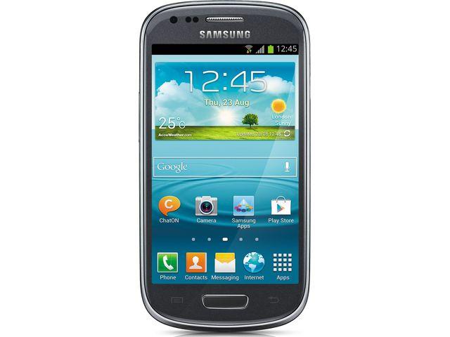 obsah balení Samsung Galaxy S III mini, NFC, šedý + zadní kryt Samsung ZDARMA, světle modrý