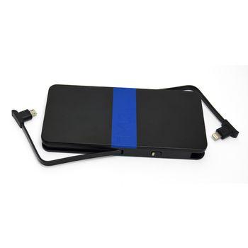 Tylt záložní baterie 5200 mAh energi 5K+ s lightning/microUSB konektorem, černo-modrá