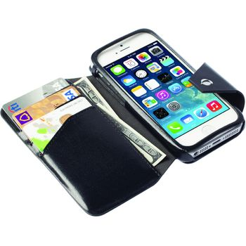 Krusell pouzdro FlipWallet Kalmar - Apple iPhone 5S/5C/5, černá
