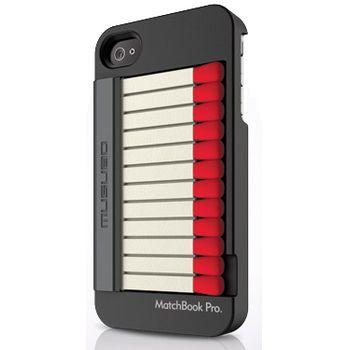 Musubo pouzdro MatchBook pro Apple iPhone 4/4S - černé