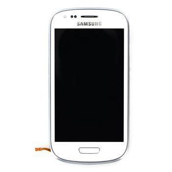 Náhradní díl LCD displej + dotyk + přední kryt pro Samsung i8190 Galaxy S III mini, bílý
