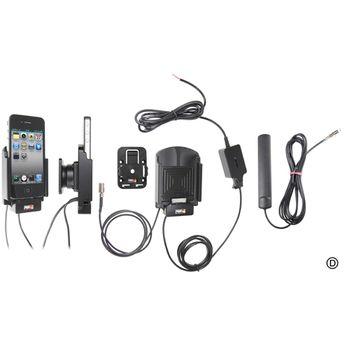 Brodit držák do auta na Apple iPhone 4/4S bez pouzdra se skrytým nabíjením a externí anténou