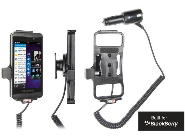obsah balení Brodit držák do auta pro BlackBerry Z10 s nabíjením + adaptér pro snadné odebrání držáku z proclipu