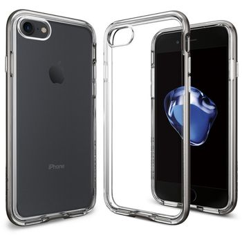 Spigen ochranný kryt Neo Hybrid Crystal pro iPhone 7, kovově šedá