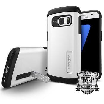 Spigen pouzdro Slim Armor pro Galaxy S7, bílé