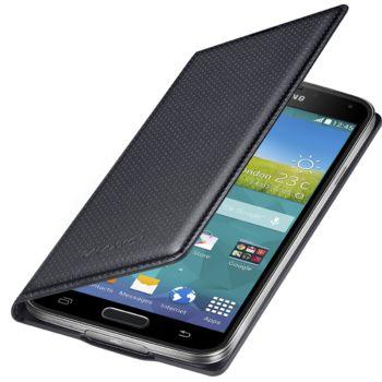 Samsung flipové pouzdro s kapsou EF-WG900BK pro Samsung Galaxy S5 (SM-G900), černé