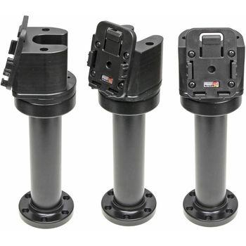 Brodit set otočného montážního podstavce a MultiMove clipu, výška 215 mm, sklon 75°, černý