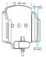 Brodit držák do auta nastavitelný s microUSB a nabíjením z cig. zapalovače/USB š.75-89 mm, tl. 6-10