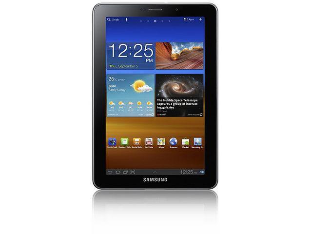 obsah balení Samsung Galaxy Tab P6800 7.7 + originální autonabíječka Samsung