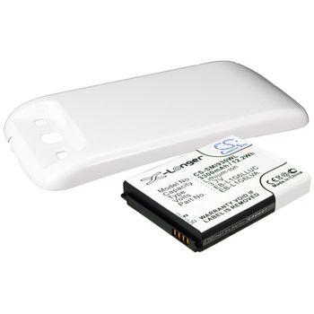 Baterie pro Samsung Galaxy S III 3300mAh, Li-ion, rozšířená, včetně krytu Marble white