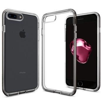 Spigen ochranný kryt Neo Hybrid Crystal pro iPhone 7 plus, kovově šedá
