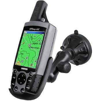RAM Mounts držák na Garmin Astro 220, GPS 60,GPSMAP 60,60C,60CS,60CSx a 60Cx do auta s vysoce kvalitní přísavkou na sklo, sestava RAP-B-166-2-GA12U