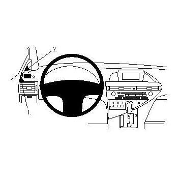 Brodit ProClip montážní konzole pro Lexus RX Series 10-15, vlevo na sloupek