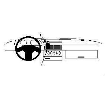Brodit ProClip montážní konzole pro Alfa Romeo 155 92-97, na střed vlevo