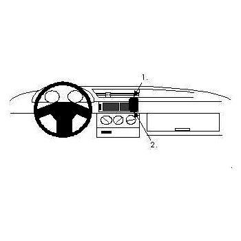 Brodit ProClip montážní konzole pro Alfa Romeo 155 92-97, na střed vpravo