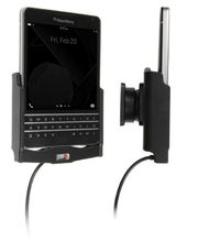Brodit držák do auta na BlackBerry Passport (AT&T) bez pouzdra, s nabíjením z cig. zapalovače/USB