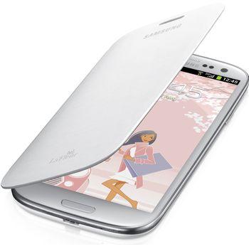 Samsung flipové pouzdro EFC-1G6RW pro Galaxy S III mini (i8190), bílé La Fleur