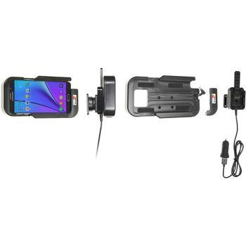 Brodit odolný držák do auta na Samsung Galaxy Note 5 bez pouzdra, s nabíjením z CL/USB