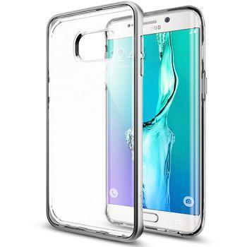 Spigen pouzdro Neo Hybrid Crystal Samsung Galaxy S6 edge+, stříbrné