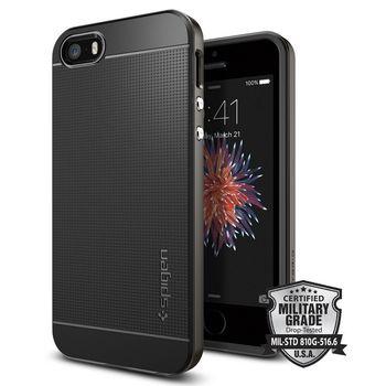 Spigen pouzdro Neo Hybrid pro iPhone SE/5s/5, kovově šedá