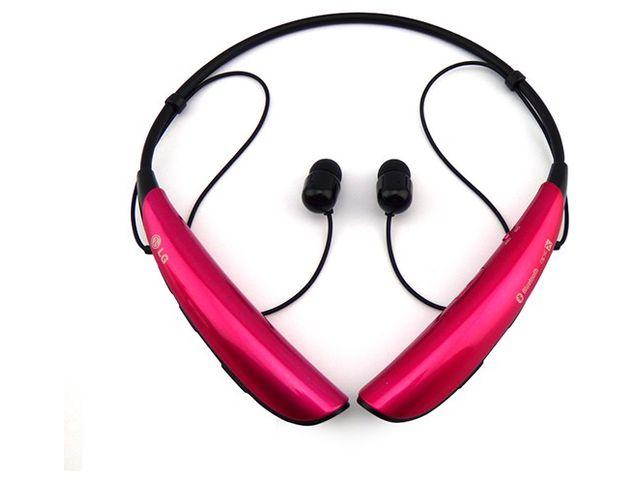 obsah balení LG Bluetooth Stereo Headset HBS-750 Tone Pro, růžový