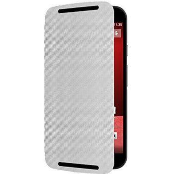 Motorola flipové pouzdro Flip Shells pro Moto G (2. generace), bílá