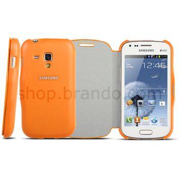 Pouzdro plastové Brando typu Flip pro Samsung Galaxy S Duos S7562, černé