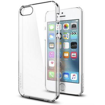 Spigen pouzdro Thin Fit pro iPhone SE/5s/5, průhledná