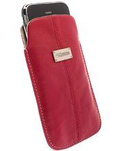 Krusell pouzdro Luna L Long - iPhone 5, Sony Xperia P/J (červená)