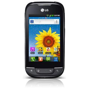 LG P690 Optimus NET Black + autonabíječka Kidigi s microUSB konektorem - černá