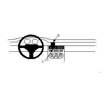 Brodit ProClip montážní konzole pro Fiat Coupé 95-96, na střed
