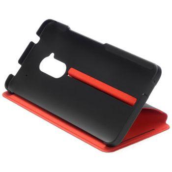 HTC flipové pouzdro se stojánkem Double Dip Flip HC V800 pro HTC One max, černo červené