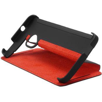 HTC flipové pouzdro se stojánkem Double Dip Flip HC J841 pro HTC One Dual SIM, černo červené