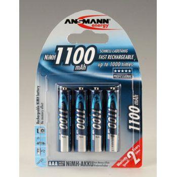 Ansmann akumulátory 4ks AAA 1100mAh NiMH