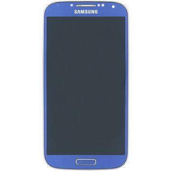 Náhradní díl LCD displej s dotykovou vrstvou a předním krytem pro Samsung i9505 Galaxy S4, modrá