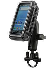RAM Mounts vodotěsný držák na mobilní telefon na motorku na řídítka, AQUABOX™ malý,  Ø objímky 12,7-31,75 mm, sestava RAM-B-149Z-AQ3U