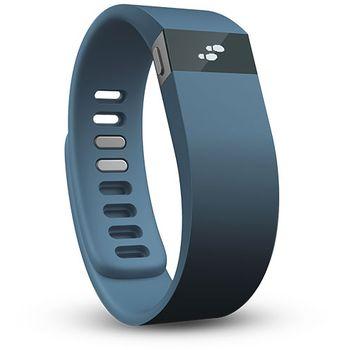 Fitbit Force monitor denní aktivity, velikost L - modrý