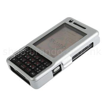 Pouzdro hliníkové Brando - Sony Ericsson P1i (stříbrná)