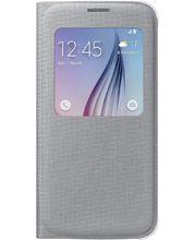 Samsung flipové pouzdro S-View EF-CG920BS pro Galaxy S6, textilní, stříbrná