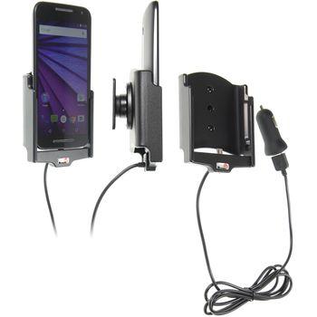 Brodit držák do auta na Motorola Moto G (3rd Gen) bez pouzdra, s nabíjením z cig. zapalovače/USB