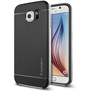 Spigen pouzdro Neo Hybrid pro Samsung Galaxy S6, stříbrná