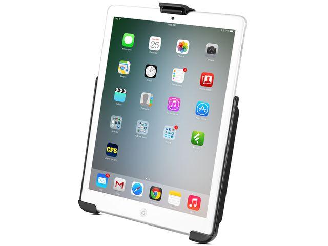obsah balení RAM Mounts držák na Apple iPad mini na motorku nebo na kolo na řídítka, Ø objímky 12,7-31,75 mm, sestava RAM-B-149Z-AP14U