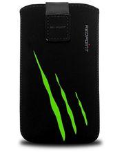 Fixed pouzdro Velvet s motivem Green Scratch, velikost 3XL, černá